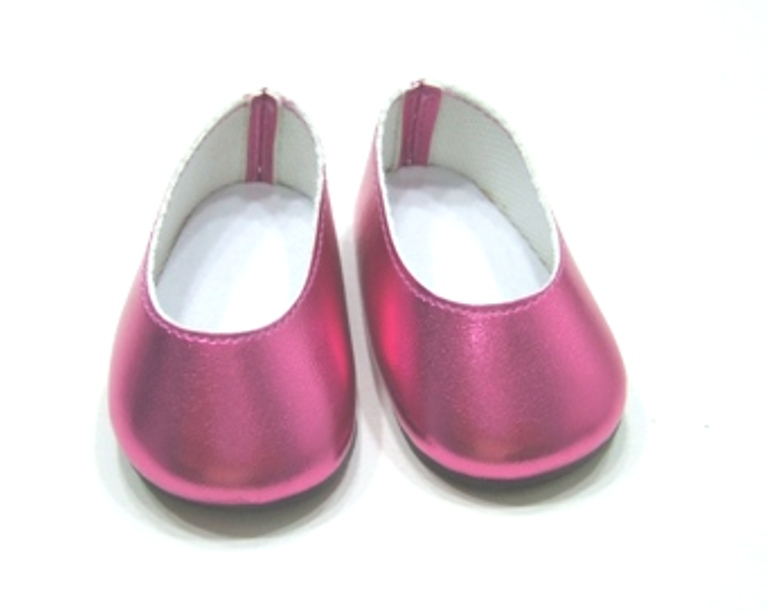 Metallic Pink Slip On Shoes