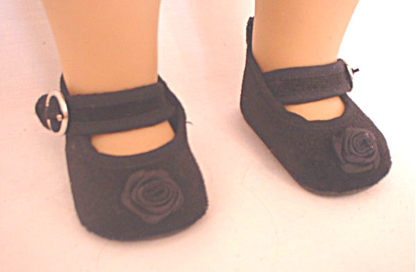 Black Velvet Rose Shoe