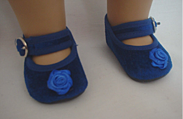 Blue Velvet Rose Shoe