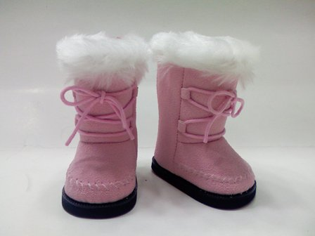 Pink Mod Suede Boots