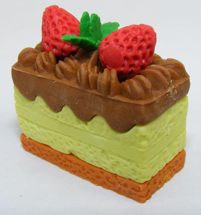 Lime Frosted Princess Cake Slice