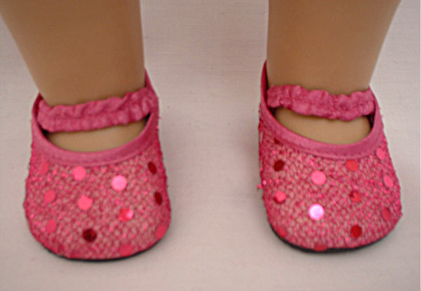 Dark Pink Sequin Shoes