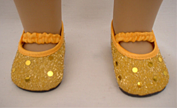 Gold Sequin Shoe