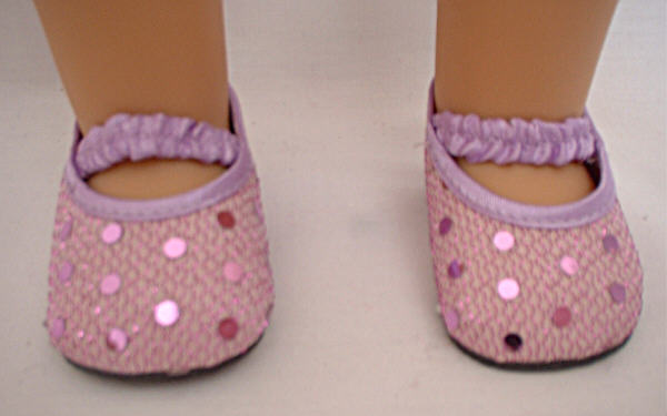 Lavender Pink Sequin Shoes