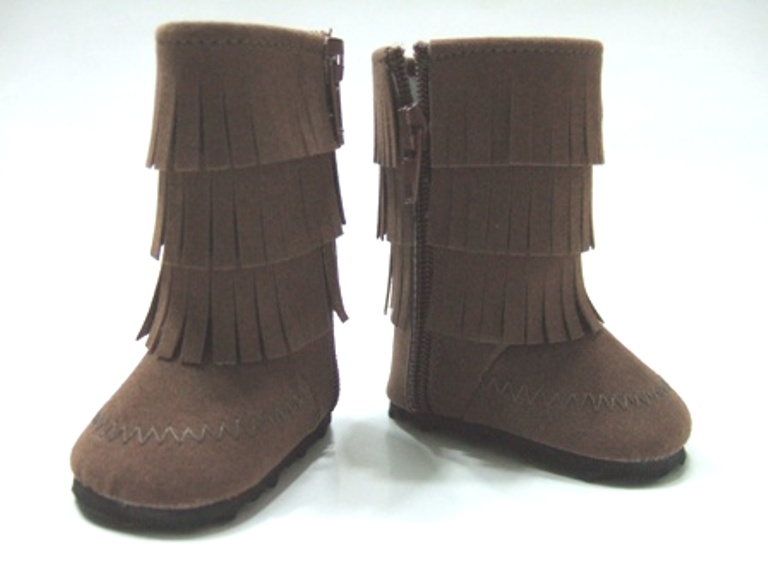 Brown Fringed Boot