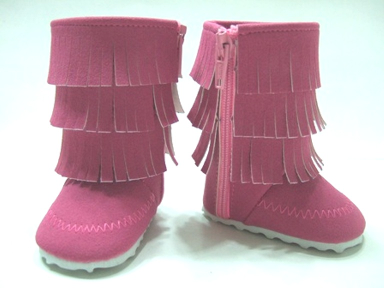 Pink Fringed Boot