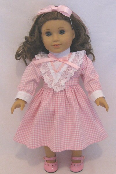Victorian Style Pink Check Dress