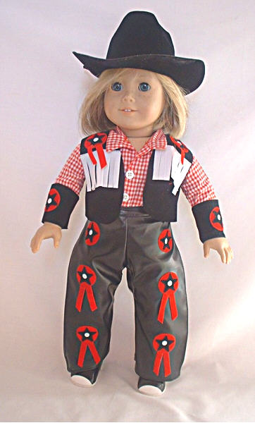 Black Cowgirl Pant Set