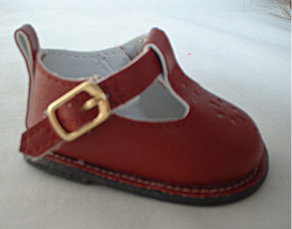 Oxblood Flower Mary Janes