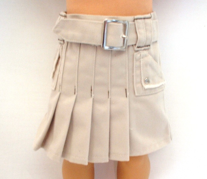 Tan Pleated Sportswear Skirt