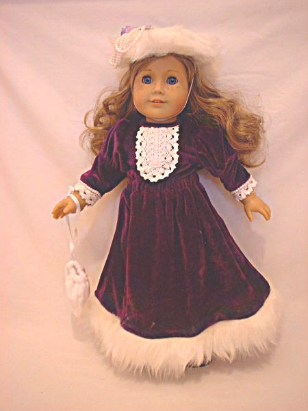 Purple Velvet Old Fashioned Dress