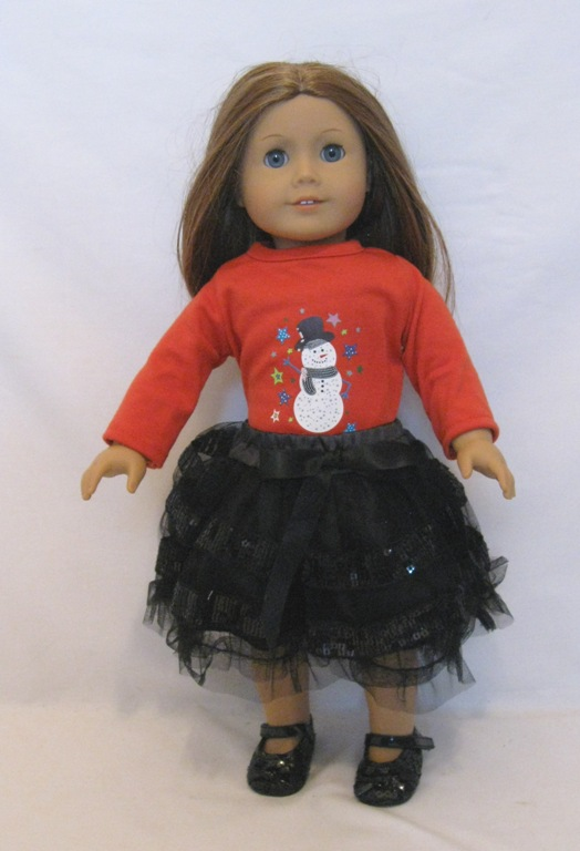 Black Glitter Petti Skirt Set